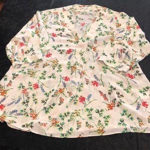 Rose + Olive blouse